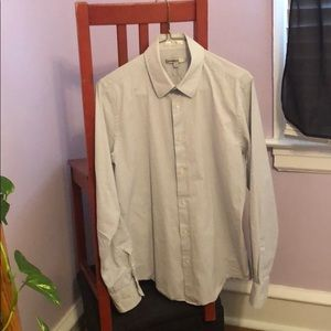 3/$13 Express white and lavender checked button-up
